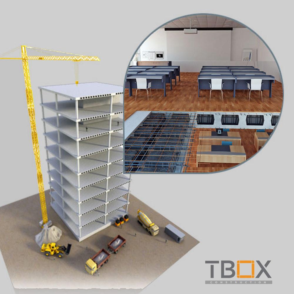 Ứng dụng của sàn phẳng TBOX